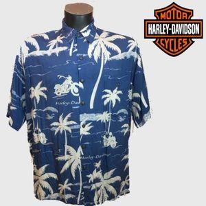 Harley-Davidson Hawaiian Button Down Shirt